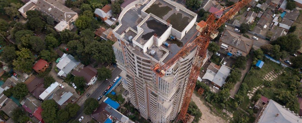 Съёмка строительного объекта, Краснодар - Фото с квадрокоптера