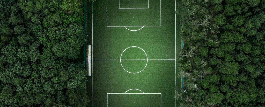 Футбольное поле,  - Фото с квадрокоптера