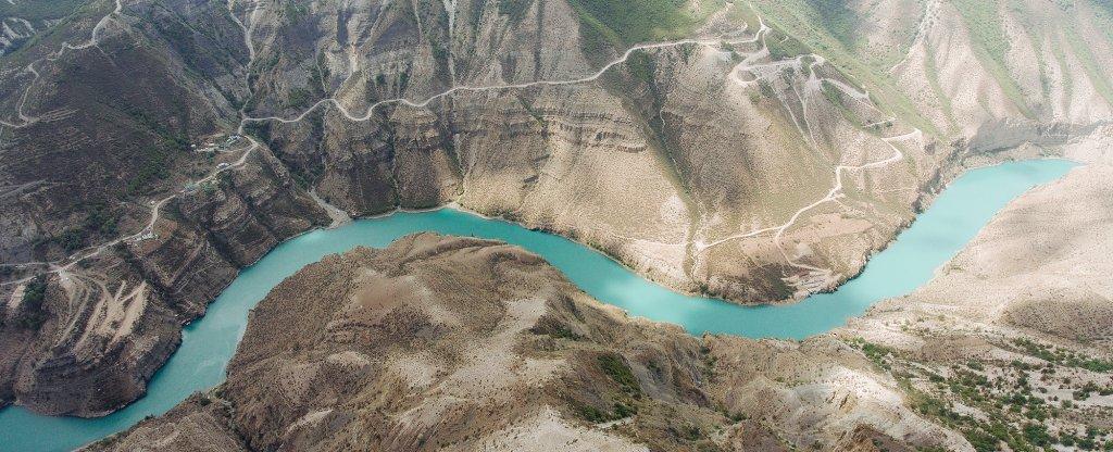 сулакский каньон, Дубки - Фото с квадрокоптера