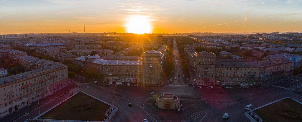 Закат,  - Фото с квадрокоптера