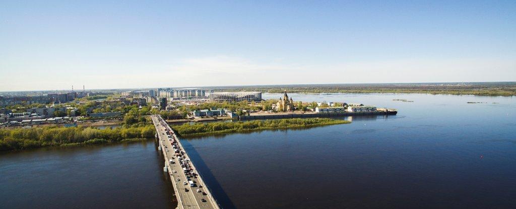 Новый стадион в ЧМ2018, Нижний Новгород - Фото с квадрокоптера