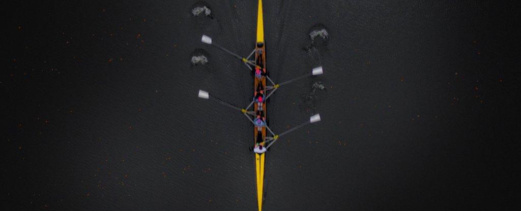 Космические гребцы,  - Фото с квадрокоптера