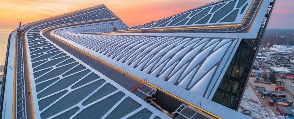Альпинисты на крыше,  - Фото с квадрокоптера