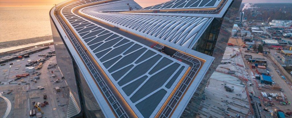 МФЗ на закате, Санкт-Петербург - Фото с квадрокоптера