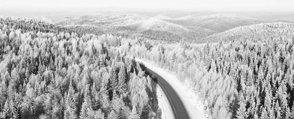 Зима на Урале,  - Фото с квадрокоптера
