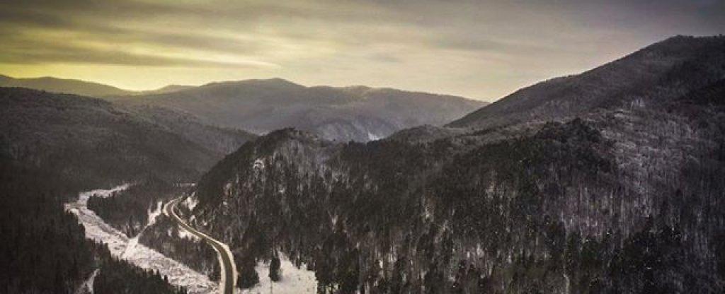 Вечер в горах,  - Фото с квадрокоптера
