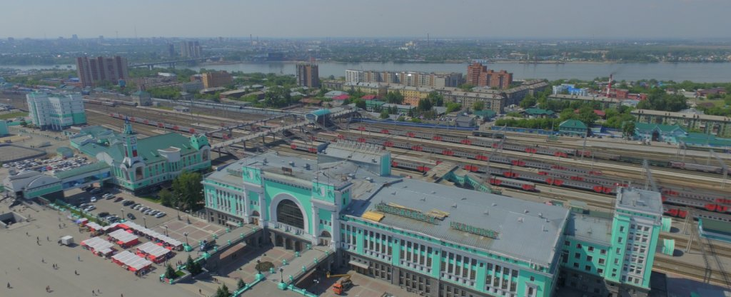 Вокзал,  - Фото с квадрокоптера