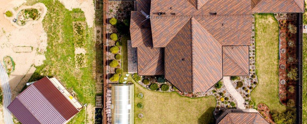 Коттедж,  - Фото с квадрокоптера