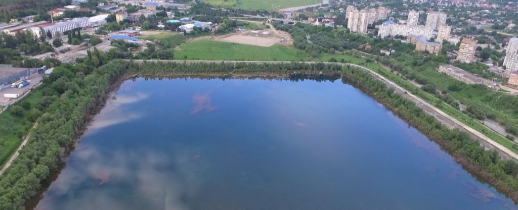Новое озеро заброшенное, Кисловодск - Фото с квадрокоптера