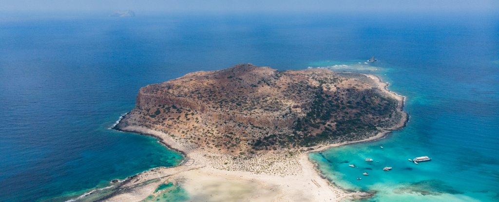 Бухта Балос, о.Крит,  - Фото с квадрокоптера