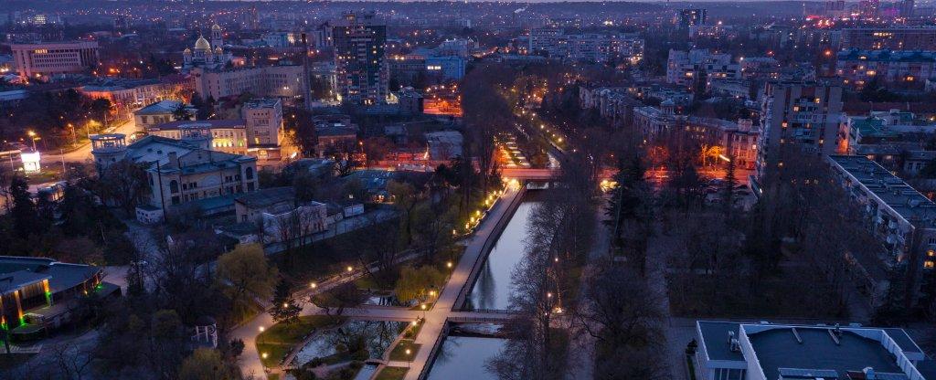Вечерний Симферополь, Симферополь - Фото с квадрокоптера