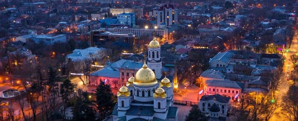 Собор Александра Невского, Симферополь - Фото с квадрокоптера