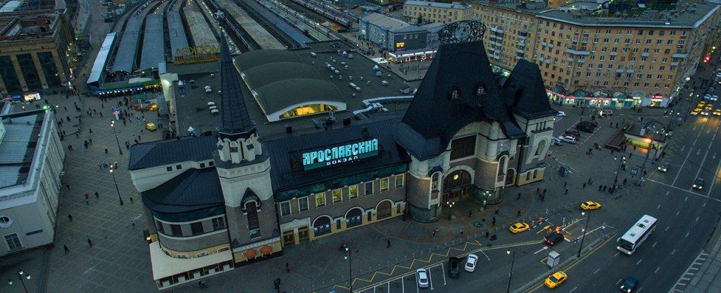 Ярославский вокзал, Москва, Москва - Фото с квадрокоптера