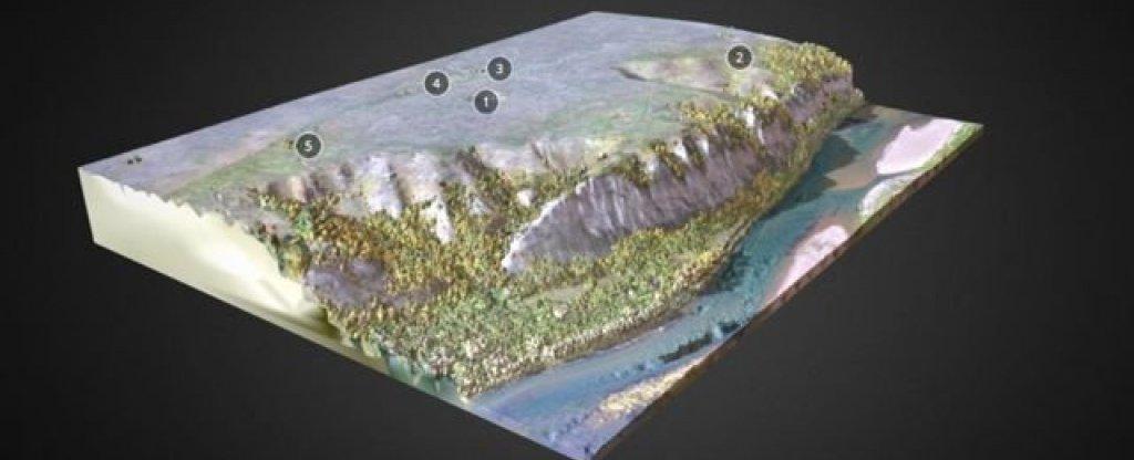 3Д модель горы охлебининского городища,  - Фото с квадрокоптера