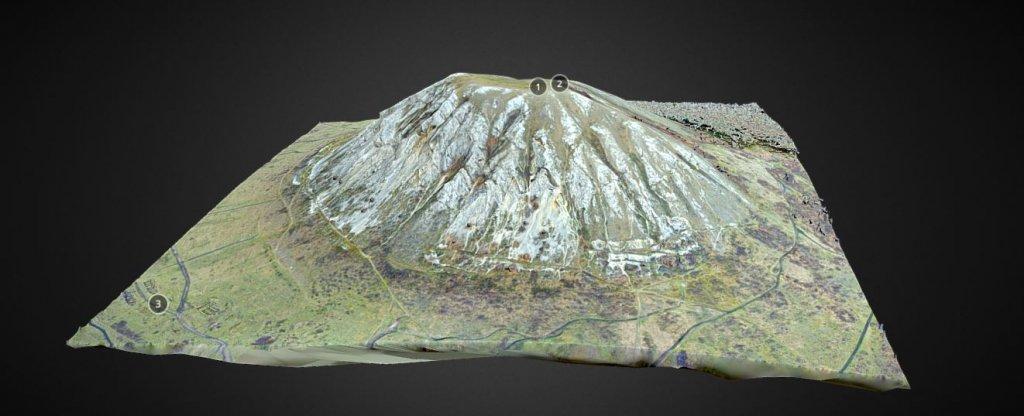 3D модель горы Торатау, Стерлитамак - Фото с квадрокоптера