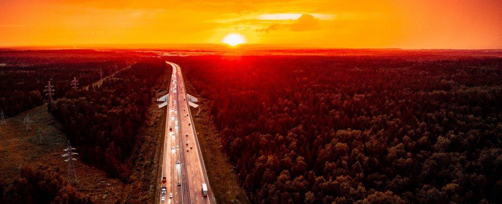 Закат на Новой Риге,  - Фото с квадрокоптера