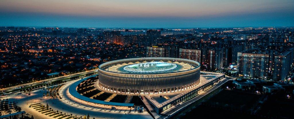 Стадион Краснодар, Краснодар - Фото с квадрокоптера
