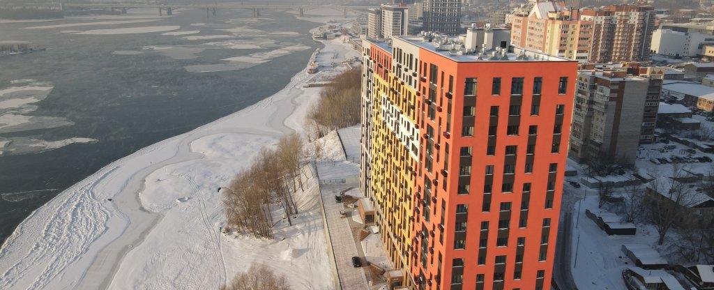 Съёмка ЖК Маяк, Новосибирск - Фото с квадрокоптера