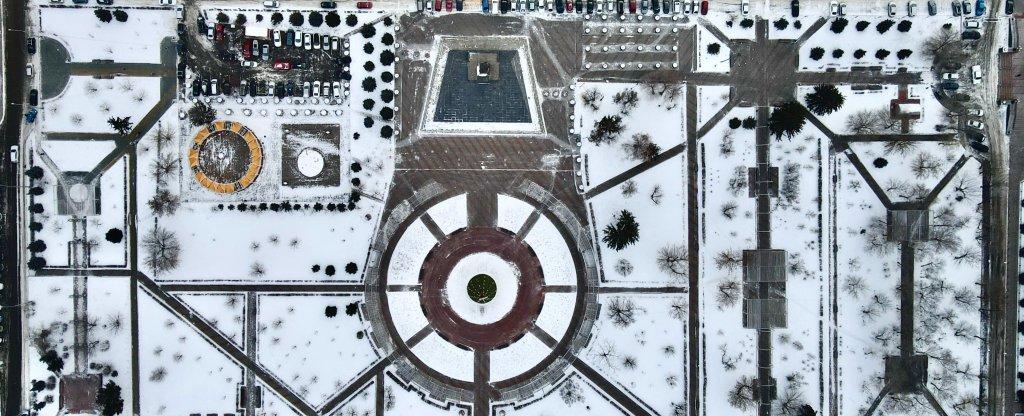 Площадь Революции в Красноярске, Красноярск - Фото с квадрокоптера