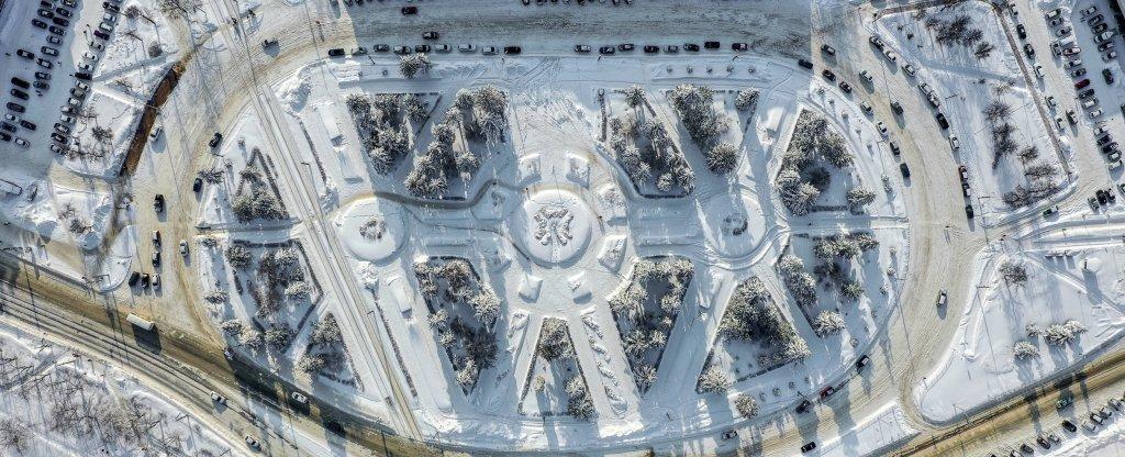 Зимняя геометрия, Нижний Новгород - Фото с квадрокоптера