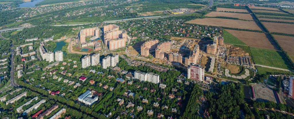 Фотосъёмка высокого разрешения жилого комплекса, Видное - Фото с квадрокоптера