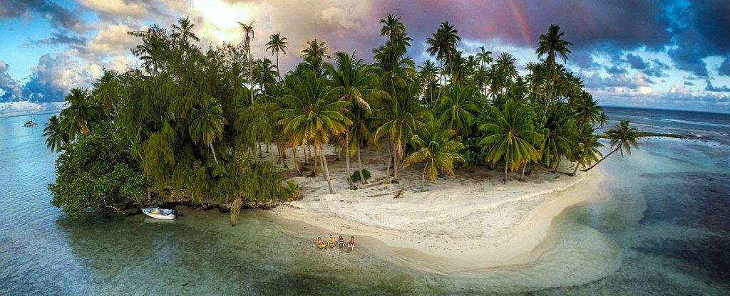Пляж,  - Фото с квадрокоптера