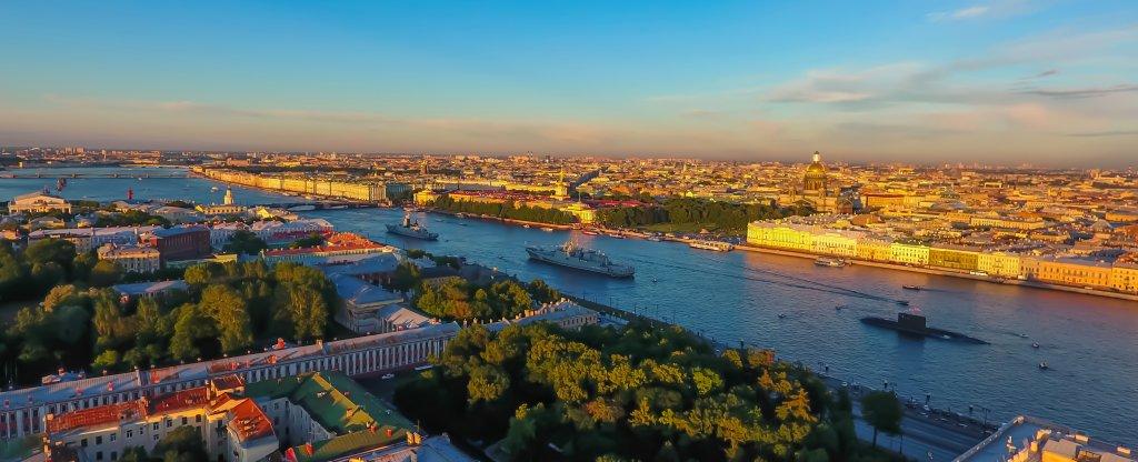 День ВМФ в Санкт-Петербурге,  - Фото с квадрокоптера