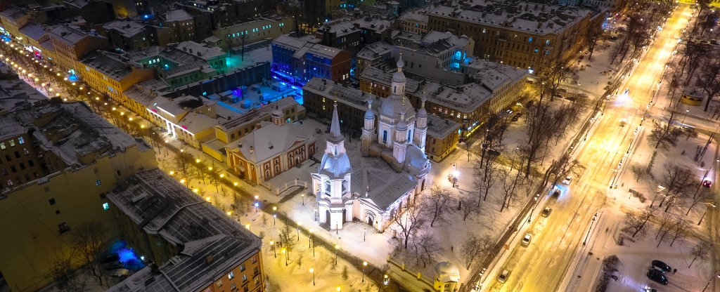 Андреевский собор, Санкт-Петербург - Фото с квадрокоптера