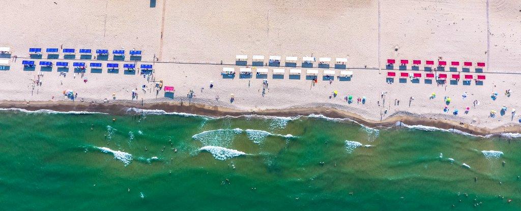 Пляж в Болгарии. Окресности Варны,  - Фото с квадрокоптера