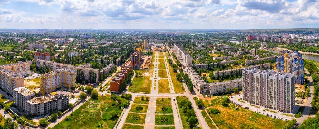 Улица 50 лет Октября, Волгоград - Фото с квадрокоптера