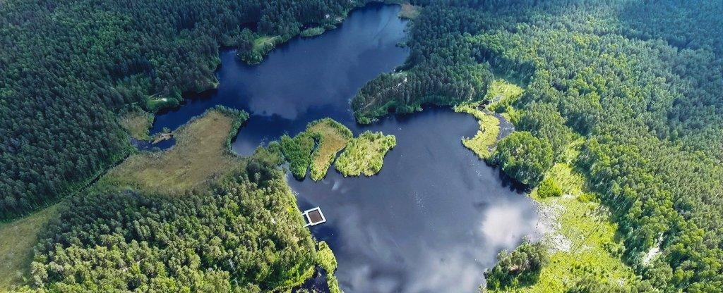 Святое озеро, Павлово - Фото с квадрокоптера