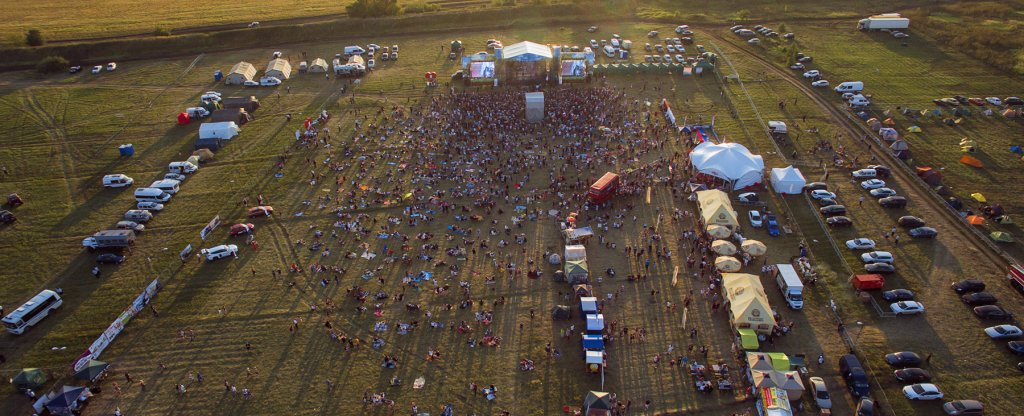 Рок-фестиваль Чернозём в Тамбове, Тамбов - Фото с квадрокоптера