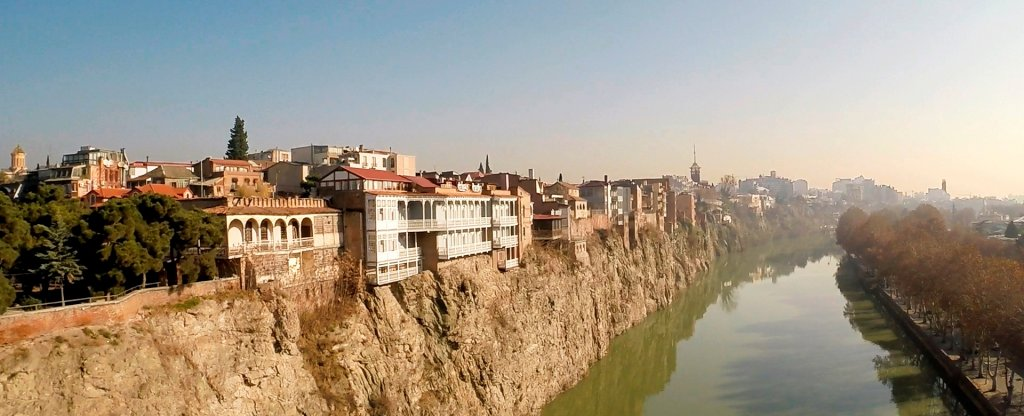 Тбилиси Грузия ноябрь 2016,  - Фото с квадрокоптера