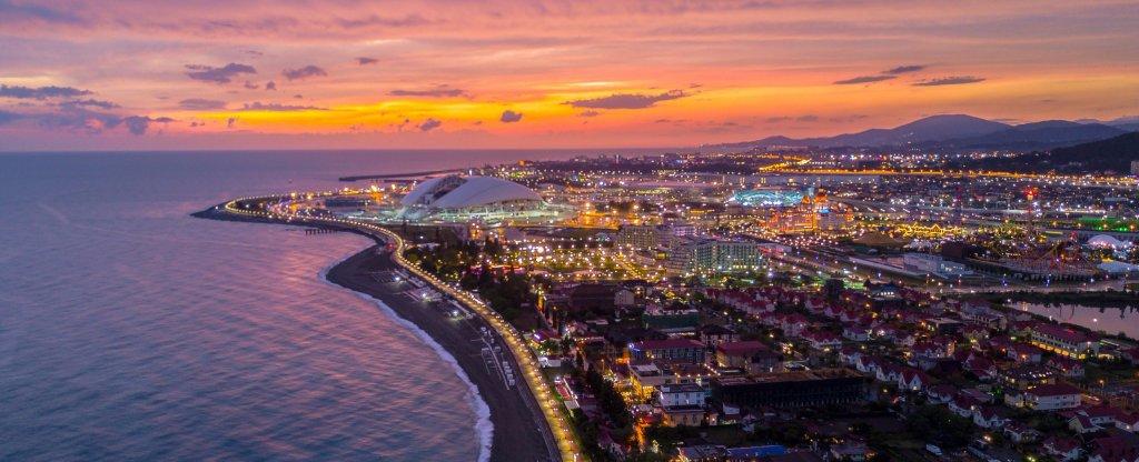Закат на море, Сочи - Фото с квадрокоптера