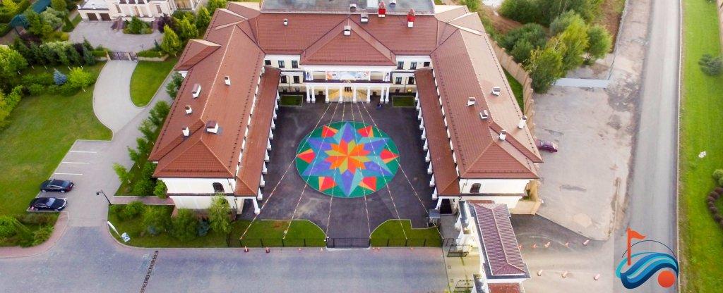 Школьная площадка, Москва - Фото с квадрокоптера