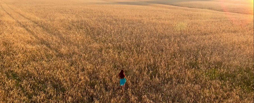 Девушка в поле, Ишимбай - Фото с квадрокоптера