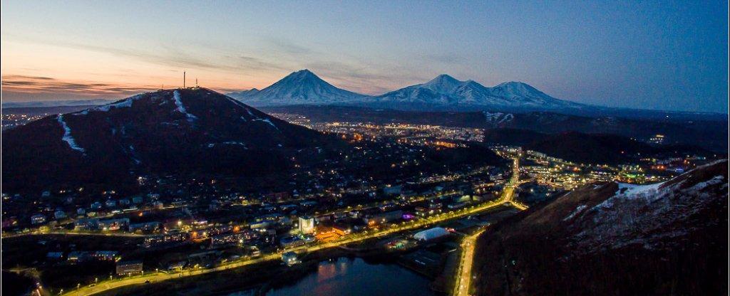 Вечерний Петропавловск,  - Фото с квадрокоптера