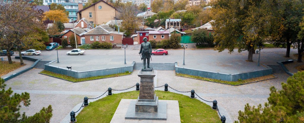 г. Таганрог, памятник Петру I, Таганрог - Фото с квадрокоптера