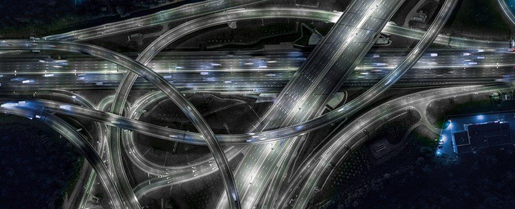Бусиновская развязка на МКАД, Москва - Фото с квадрокоптера