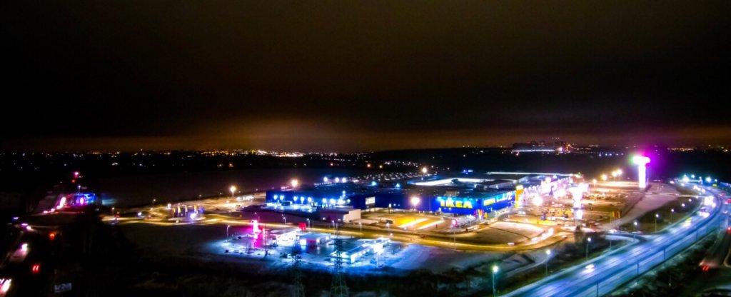 Ночное фото, Нижний Новгород - Фото с квадрокоптера