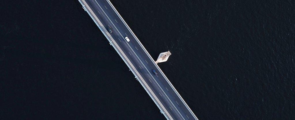 Танцующий мост, Волгоград - Фото с квадрокоптера
