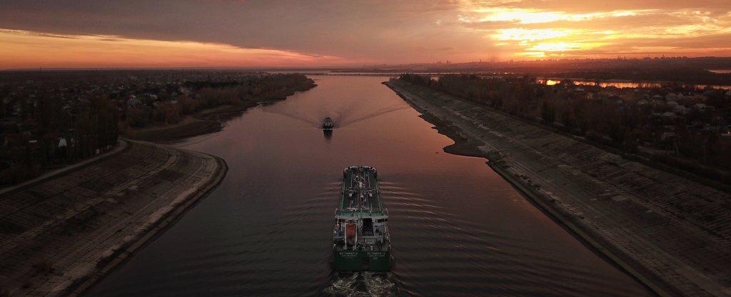 Закат, Волгоград - Фото с квадрокоптера