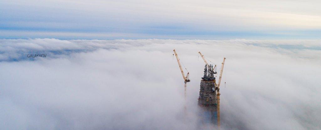 В облаках,  - Фото с квадрокоптера