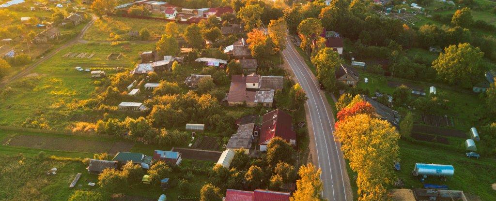 Бабье лето, Сланцы - Фото с квадрокоптера