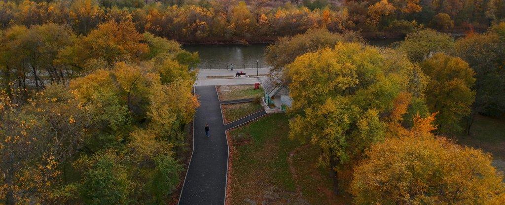 Осенние цвета, Невинномысск - Фото с квадрокоптера