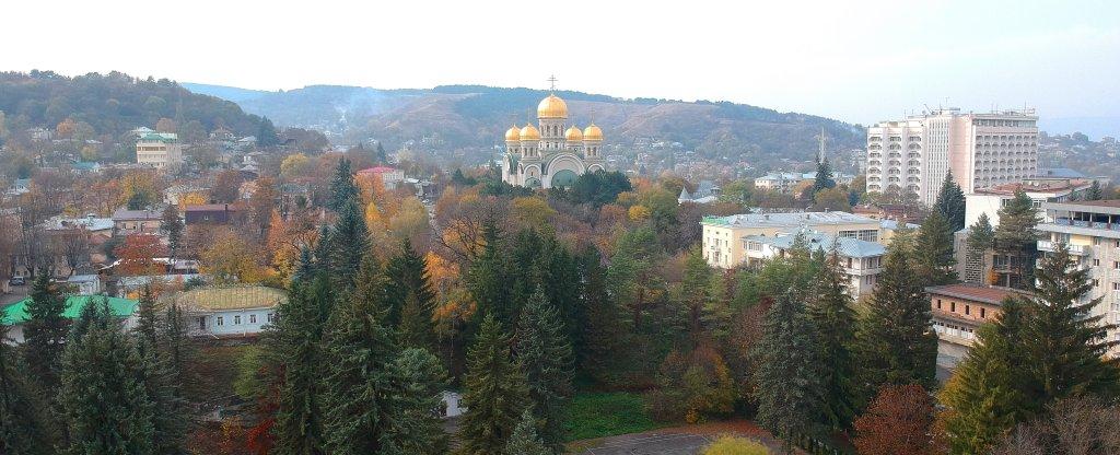 Свято-Никольский собор Кисловодск, Кисловодск - Фото с квадрокоптера
