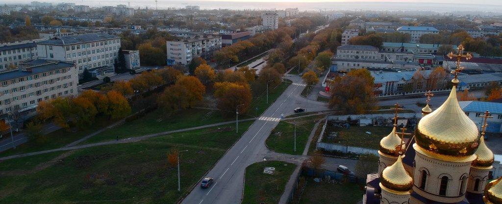 Храм Преподобного Серафима Саровского Невинномысск, Невинномысск - Фото с квадрокоптера