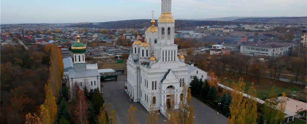 Собор Покрова Пресвятой Богородицы Невинномысск, Невинномысск - Фото с квадрокоптера