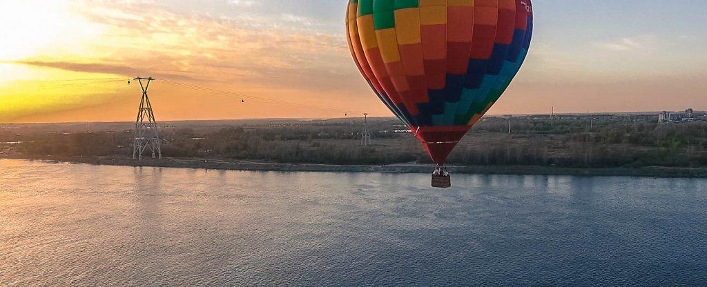 Полёт на воздушном шаре, Нижний Новгород - Фото с квадрокоптера
