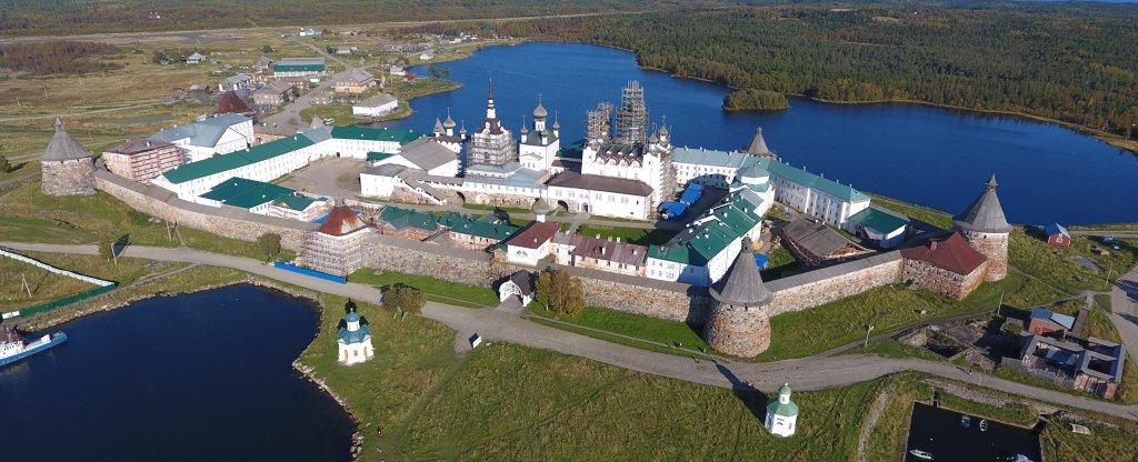 Соловецкий монастырь,  - Фото с квадрокоптера